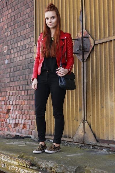 pu leather OASAP jacket