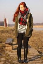 parka elite99 coat - plaid OASAP scarf