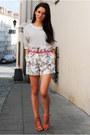 Romwe-shorts-t-shirt