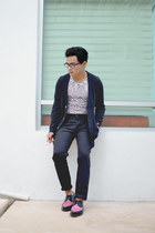 arien creeper Dr Martens shoes - trousers asos pants - asos cardigan