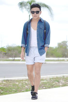 Zara shirt - Levis shirt - Nasty Gal shoes - Nasty Gal bag - Sfera shorts