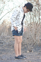 asoscom shirt - pull&bear shoes - Bershka hat - vintage shorts