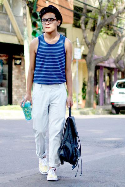 SoleStruck shoes - Bershka hat - Nasty Gal bag - rag & bone pants
