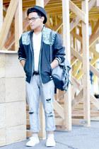 Nasty Gal bag - ripped Zara jeans - fedora Bershka hat - asos jacket
