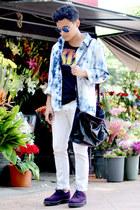 BBT top - Caminando shoes - pull&bear jeans - asos shirt - Forever 21 bag