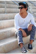 asos jeans - Zara shirt - City Racks sunglasses - vintage sneakers