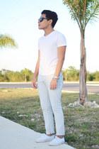 pull&bear jeans - pull&bear shirt - Vans sneakers - Nasty Gal watch