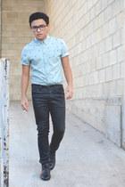 asos shirt - ankle boots Zara boots - Zara jeans