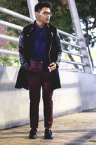 leather SoleStruck shoes - faux leather Sheinsidecom coat - polo Reebok shirt