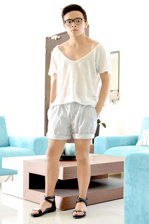 Zara top - Sfera shorts - Choies sandals
