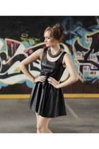 black pleather Ally dress