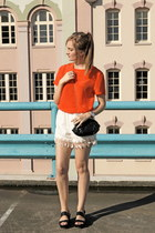 white sabo skirt shorts - carrot orange Here Comes The Sun t-shirt