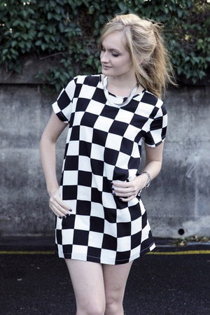 black checked Wild Orchid dress