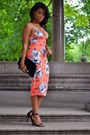 Carrot-orange-bodycon-dress