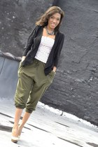 army green army unknown brand pants - camel pumps enzo angiolino shoes
