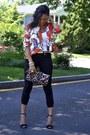 Black-strap-zara-shoes-orange-silk-unknown-blazer-black-j-brand-pants