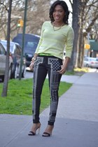 embellished pants - rippled top
