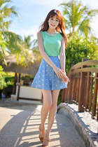 sky blue short skirt JAMYBongjashop skirt