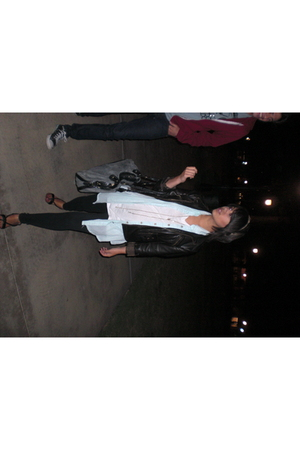 xhilleration jacket - The Hanger blouse - leggings - xhilleration - shoes