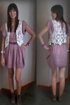 Sasha vest - Forever 21 dress