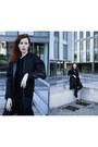 Black-filip-roth-coat-black-zara-bag-black-bershka-pants