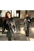 black Front Row Shop dress - black Nelly sandals - black Wrangler pants