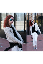 beige H&M Trend jacket - black Parfois bag - blue Choies sunglasses