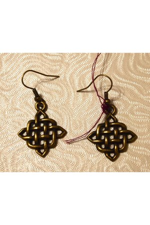 brass woven John-Jude earrings
