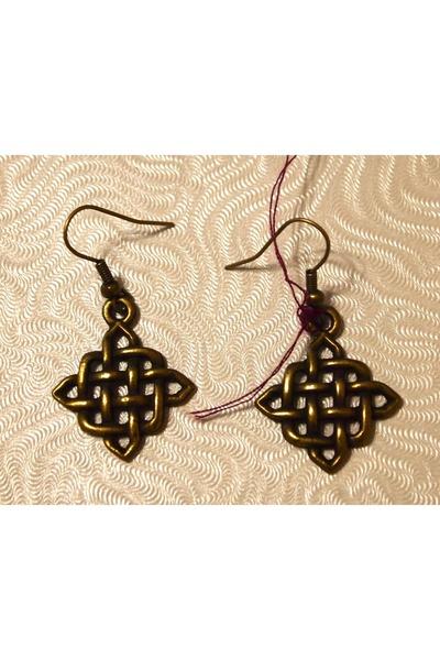 brass woven John-Jude earrings