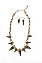 Fashion Chic SPIKE Chain Necklace SET-