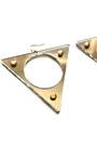 Mirror-triangle-earrings