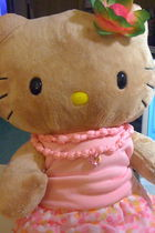 pink Build-A-Bear top - yellow Build-A-Bear skirt - brown Build-A-Bear accessori