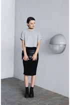 black flatform sammydress boots - black New Yorker bag