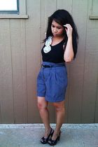 black Wet Seal top - gray Forever 21 shorts - black Charlotte Russe shoes