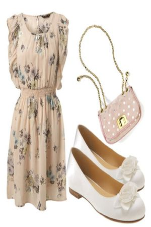 beige dress - white shoes - pink bag