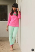 cotton on leggings - Forever21 top