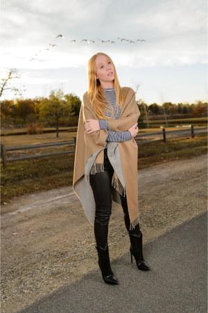 black leather rag & bone jeans - black western Saint Laurent boots