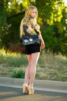 eggshell platform christian dior wedges - black Jimmy Choo bag