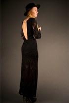 black studded ankle Miu Miu boots - black long priscilla Nightcap clothing dress