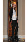 Fendi-boots-alexander-wang-leggings-vince-cardigan-necklace
