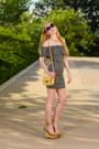Navy-daisy-glamorous-dress-cream-leather-celine-bag