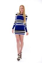black cutout alaia sandals - blue cruise Torn by Ronny Kobo dress