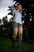 dark brown festival tall Hunter Boot boots
