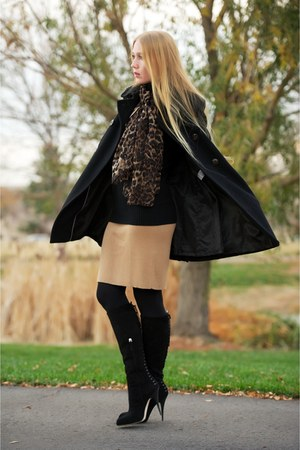 black Giuseppe Zanotti boots - black Jessica Simpson coat