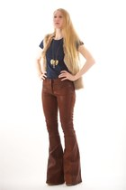 brown Elizabeth and James pants - tan Jimmy Choo boots - tan Club Monaco vest