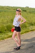 black stretch Dr Denim shorts - black large Oliver Peoples sunglasses