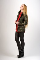 black Camilla Skovgaard boots - army green leigh camo rag & bone jacket - black