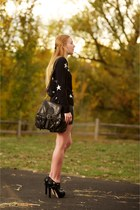 navy star cashmere chinti and parker sweater - black harness ankle Miu Miu boots