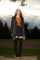 black Alice by Temperley coat - burnt orange 525 America sweater