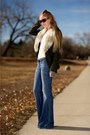 Light-blue-anita-flare-siwy-jeans-jeans-army-green-ann-taylor-loft-jacket-br